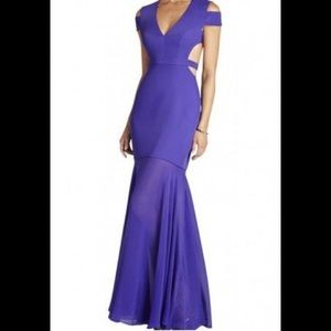 WORN ONCE BCBG Purple Ava Cutout Cage Gown Dress